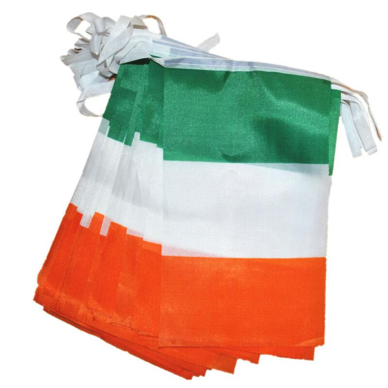 Fabric Double Sided Ireland Irish St Patricks Day Party Decorations Bunting Flag