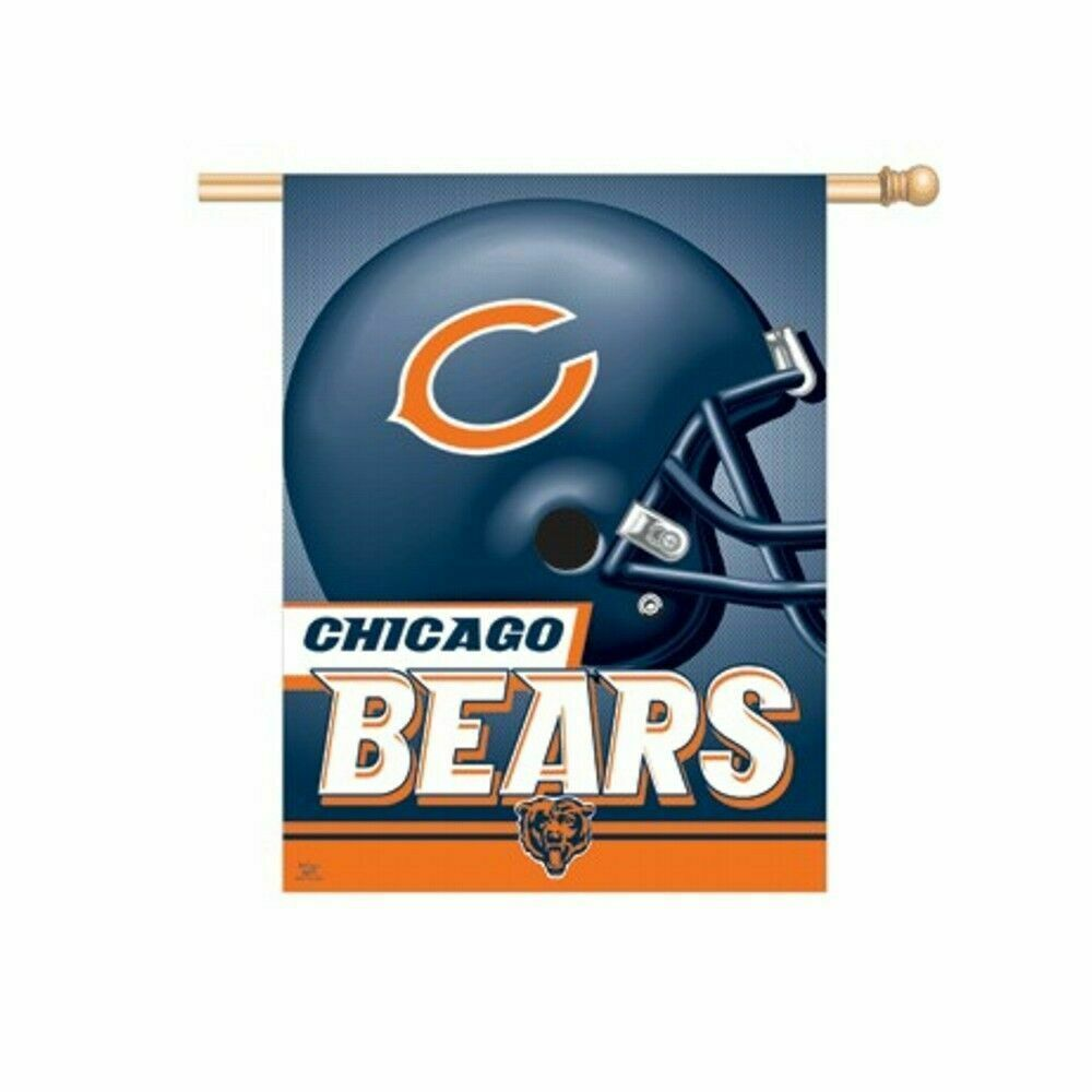 chicago bears nfl 27 x37 vertical banner