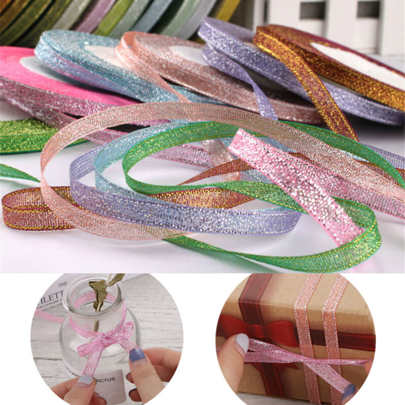 Satin Ribbon For DIY Crafts Sewing Fabric Christmas Party  S