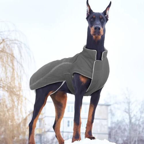 Small Large Dogs Winter Fleece Dog Coat Soft Winter Jacket