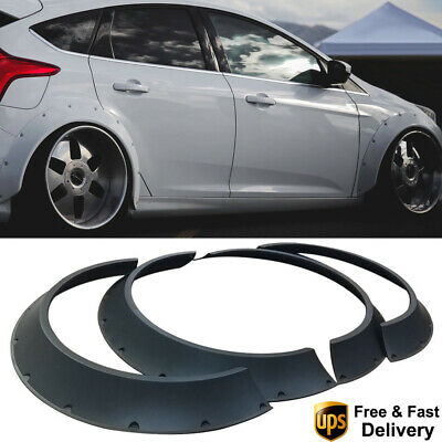 4Pcs 80mm Fender Flares Universal ABS New School Extra Wide Body Wheel Arches