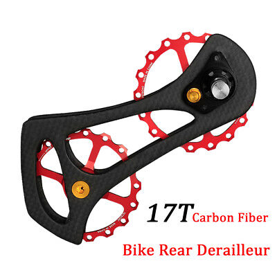 17T Carbon Fiber Road Bike Rear Derailleur Pulleys Jockey Wheel Set for - Jockey Pulleys
