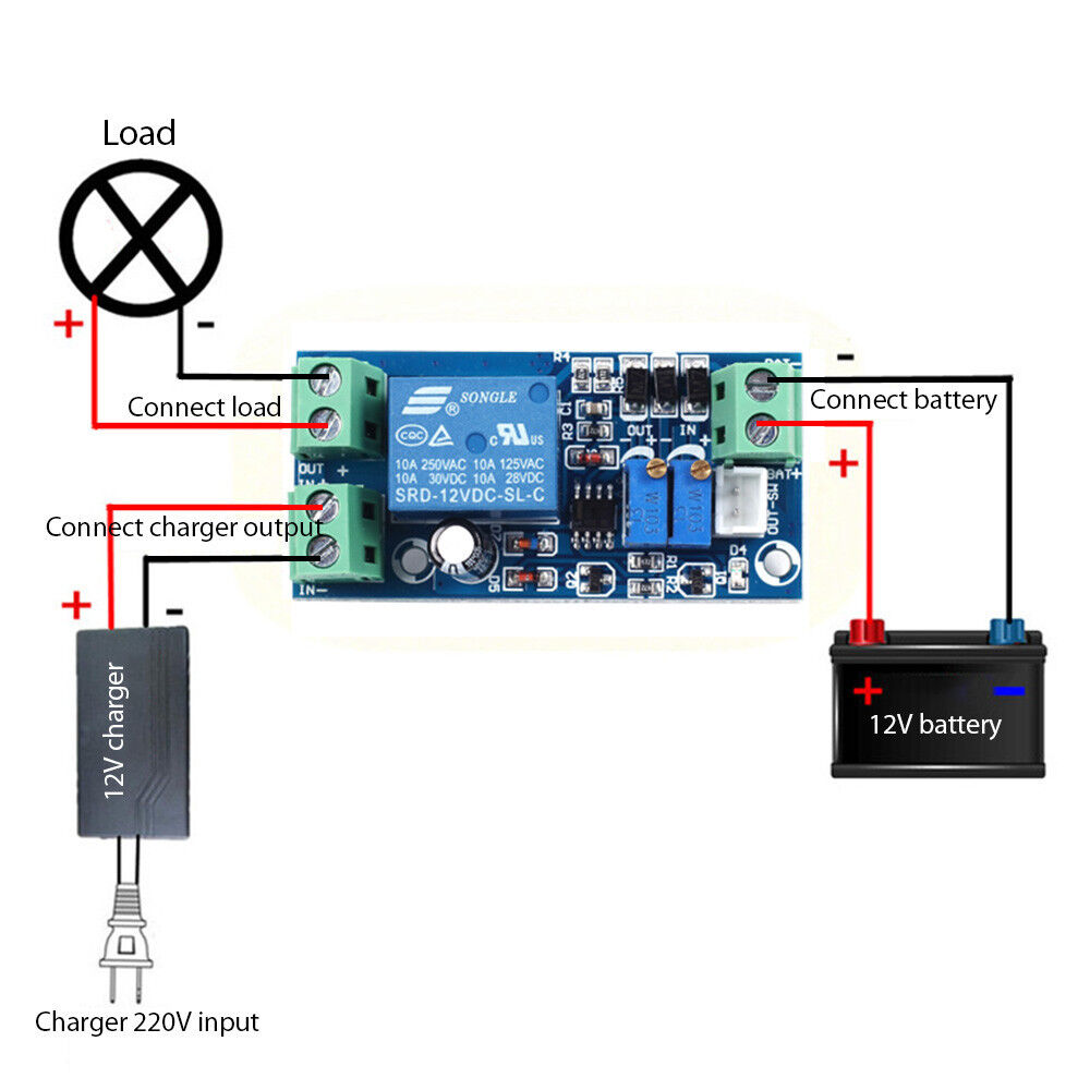 Details about Over Discharge/UnderVoltage Protection Charge Controller  Module for 12V Battery
