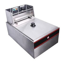 Electric Deep Fryer Chip Commercial Counter top Stainless Steel 10 ltr