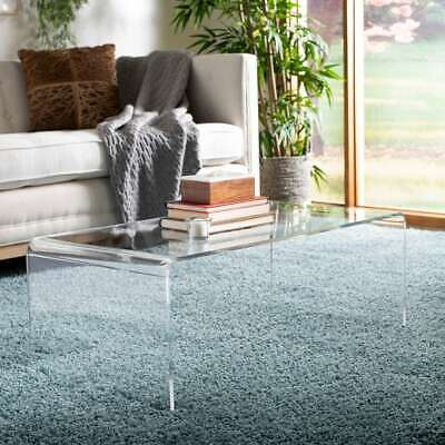 "Safavieh Atka Clear Acrylic Coffee Table - 35.4"" x 17.7"" x White 35.4"" x 17.7"" x"