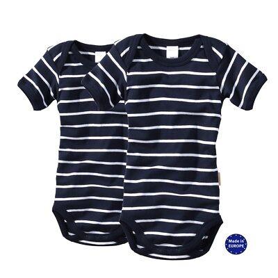 wellyou baby body 2er set kurzarm marineblau weiss baumwolle gr 50 bis 134 neu