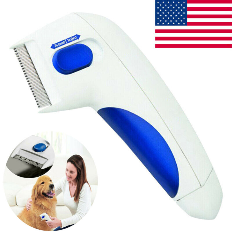 Flea Doctor Electric Dog Comb Brush Cat Pets Head Lice Remover Anti Control NS