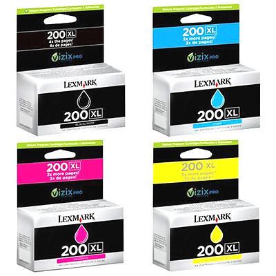 Genuine Lexmark 200xl Set Ink Cartridges Black Cyan Magen...