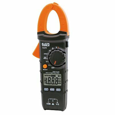 Klein Tools Cl210 Digital Clamp Meter Ac Auto-ranging 400a