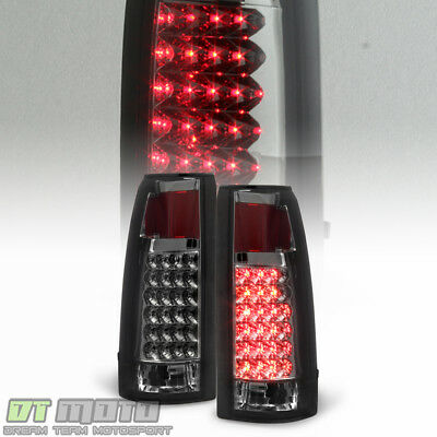 Smoked 1988-1998 Chevy Silverado C/K 1500 2500 3500 Sierra LED Tail Lights Lamps