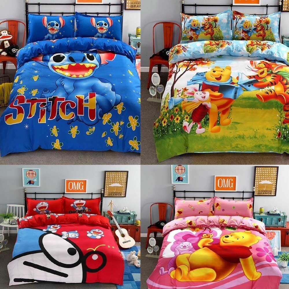 Bedding Set cartoon For Kids Stitch bedclothes covers 4 pcs