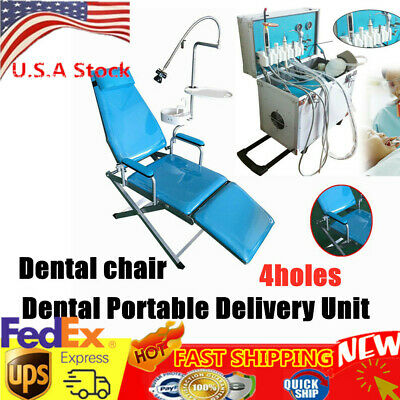 Dental Portable Delivery Cart Unit Compressor Handpiece Tube Suction 4hole Chair