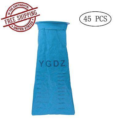 45 Pack Vomit Emesis Bag Sack Sickness Aid Clean Throw Up Barf Sanitary Urinals