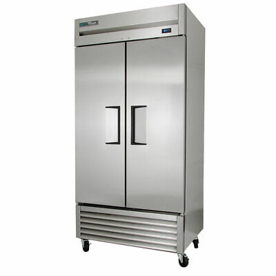 True T-35-hc 39 12 Two Section Reach In Refrigerator 2 Solid Doors 115v