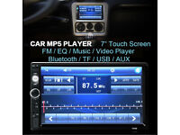 2 DIN 7'' Bluetooth Touch Screen Stereo Radio FM MP5 MP3 USB AUX TF Player