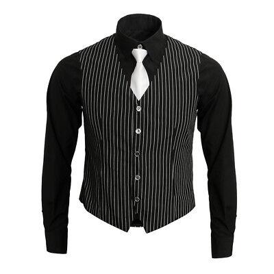 Men's Gangster Shirt Vest Tie Costume V Neck Waistcoat Gangster Costume Kit - Gangster Vest