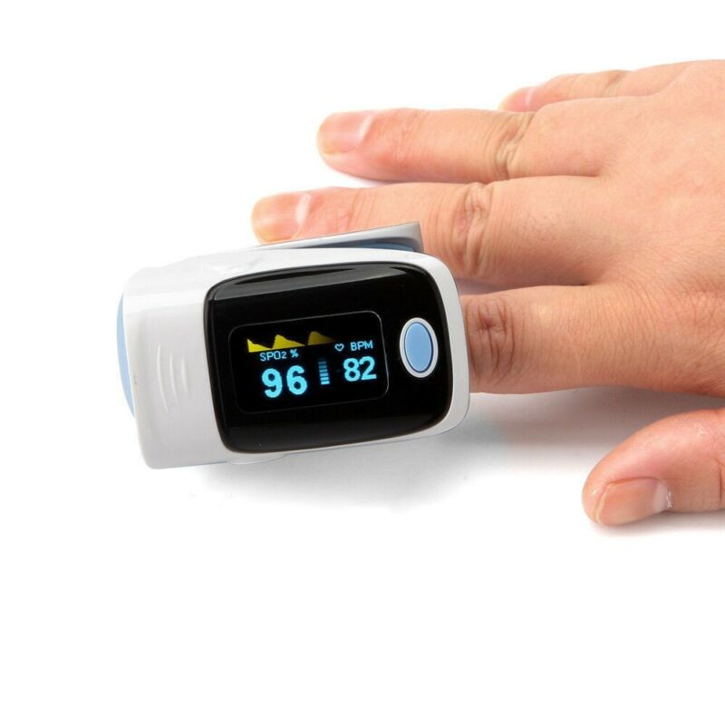 Fingertip Pulse Oximeter Blood Oxygen meter SpO2 Heart Rate Monitor-BLUE