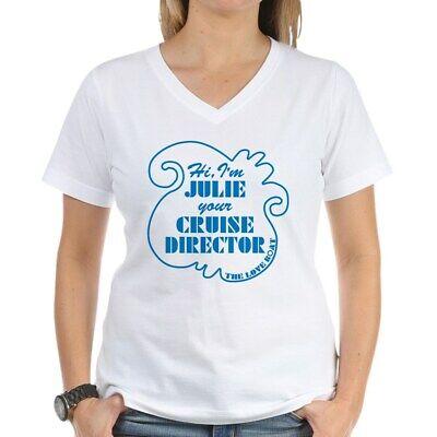 CafePress Love Boat Julie Cruise Director V-Neck T-Shirt (1719214294)