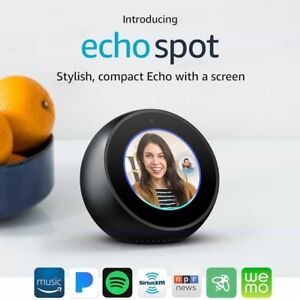 Amazon Echo Spot Black/Alexa Smart Speaker Brand New ONLY $125!!