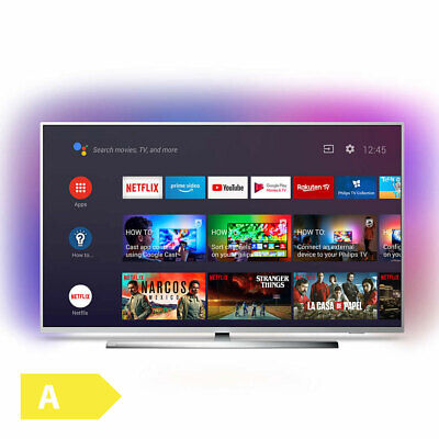 Philips 126cm 50 Zoll 4K Ultra HD LED Fernseher 3fach Ambilight HDR Android TV