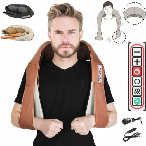Massagegerät Shiatsu Nacken Rücken Elektrische Massage Vibration Wärmefunktion