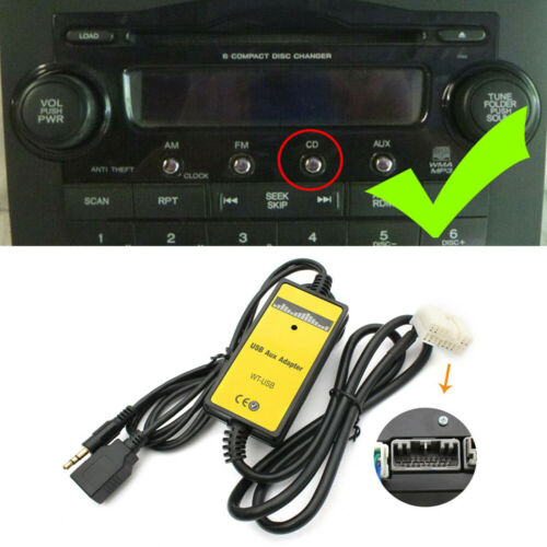 как выглядит Car USB AUX Adapter CD Changer 3.5mm Interface For Honda Accord Civic Odyssey фото