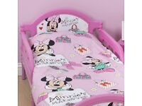 Minnie mouse makeover toddler bed with mattress