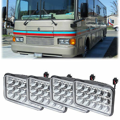 GULF STREAM 4x LED HEADLIGHTS HEAD LIGHTS LAMPS Motorhome RV