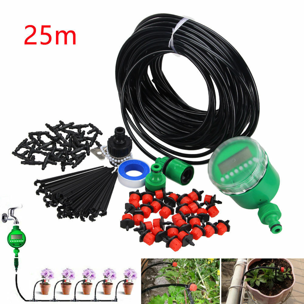 25m diy auto bew sserungssysteme drip irrigation selbst. Black Bedroom Furniture Sets. Home Design Ideas