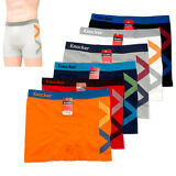 3 Mens Boxer Briefs Seamless Shorts Athletic Underwear Knocker Spandex One Size