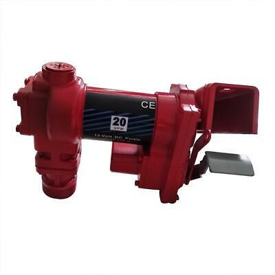 Red Fuel Transfer Pump 12 Volt 20 Gpm Diesel Gas Gasoline Kerosene 264w 20 Gpm