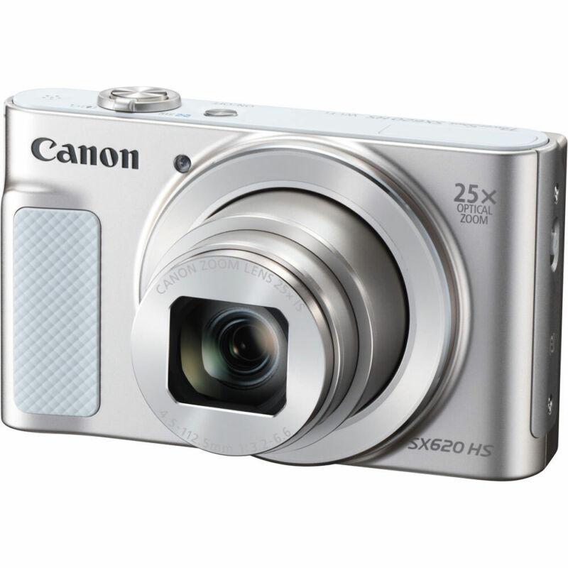 Canon PowerShot SX620 HS 20.2-Megapixel Digital Camera Silver 1074C001