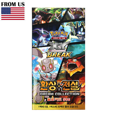 "Pokemon Cards Game XY Break ""Dream Collection"" Booster Box 20 Packs Korean Ver."