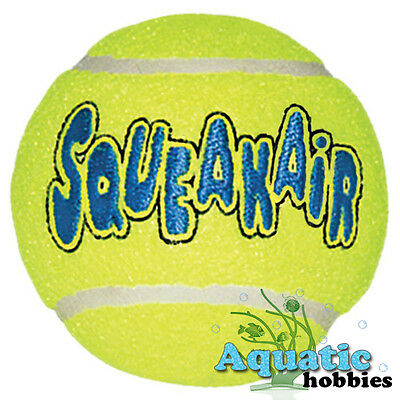 Squeaky Tennis Ball (Kong Air Dog Tennis Ball For Dog Puppy Squeaks Toy Fetch Squeaker Choose Size )