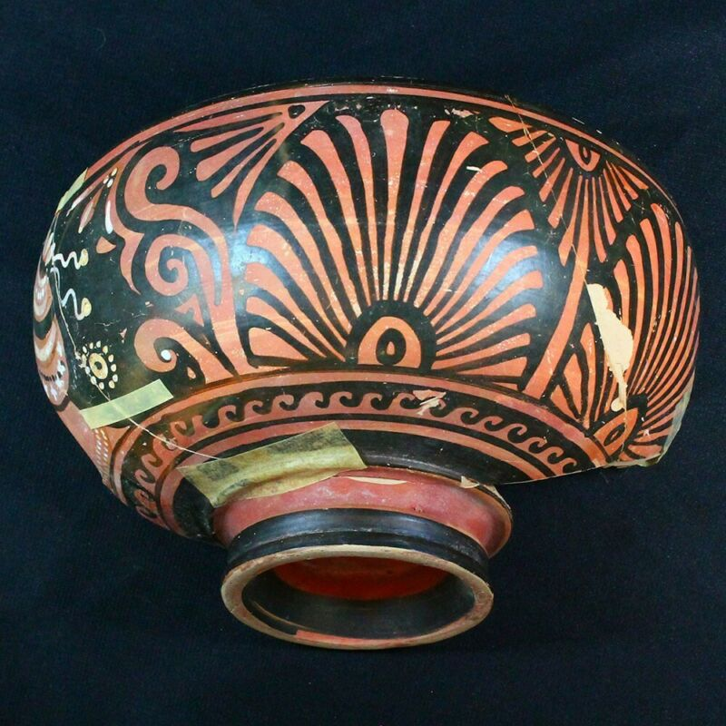 "Beautiful Ancient Greek Pottery Shard 350 - 250 BC. Measures 8.25"" x 4.5"" gr097"