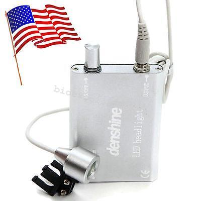 Usa Silver Portable Led Head Light Lamp Battery For Dental Binocular Loupes Ce