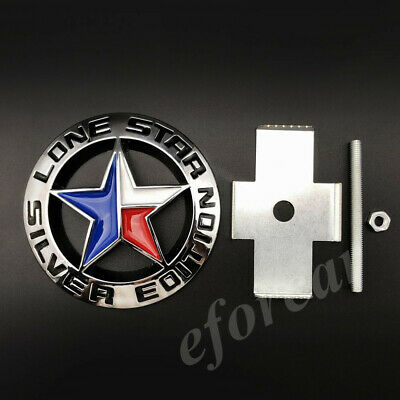 Metal Chrome Lone Star Texas Edition Car Front Grille Emblem Badge Decal Sticker