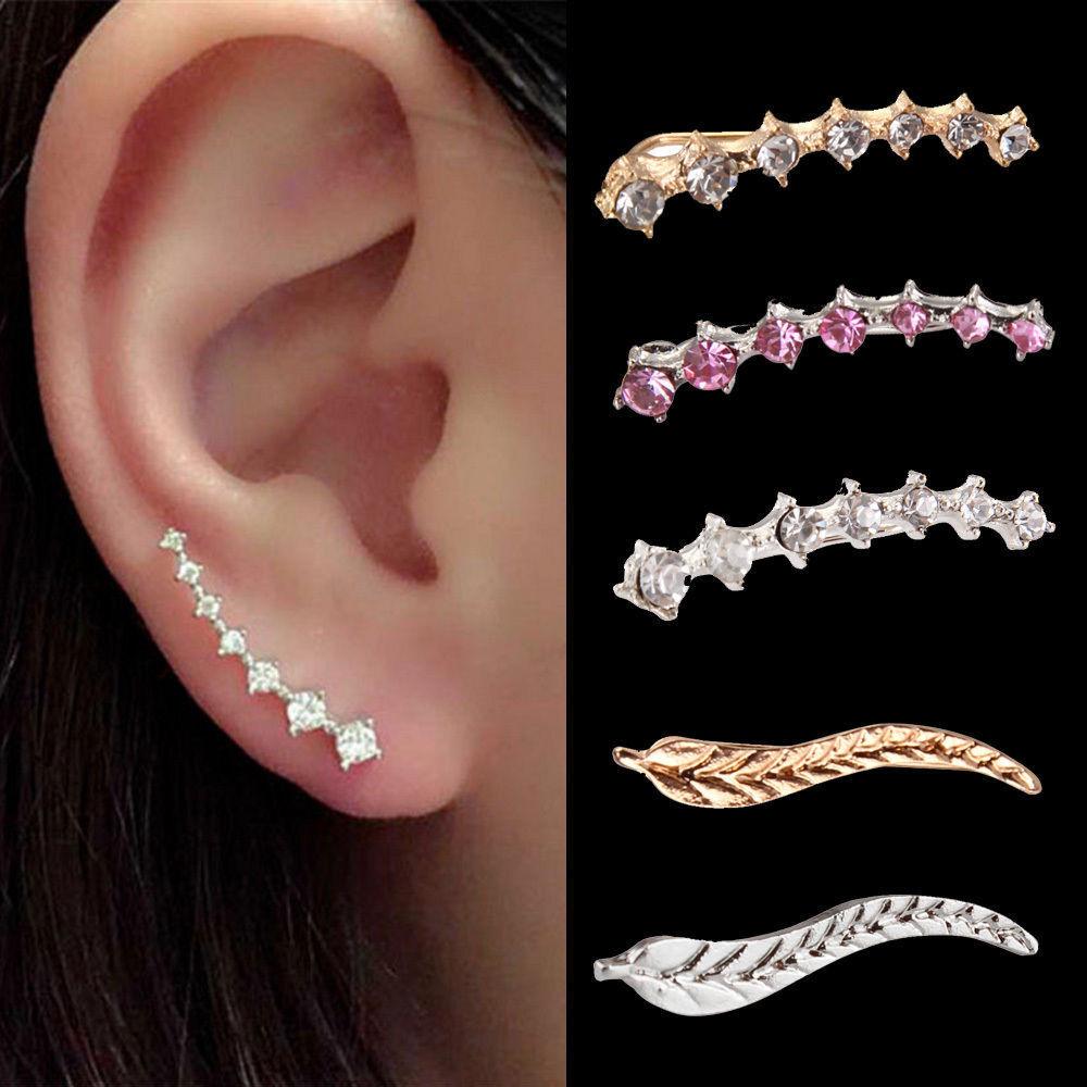 Jewellery - Charm Crystal 925 Sterling Silver Stud Hoop Earrings Fashion Women UK Jewelry
