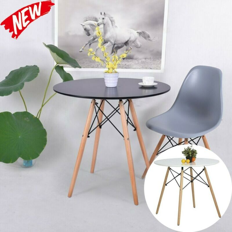 Kitchen Wooden Dining Table Round Coffee Table Leisure Confe