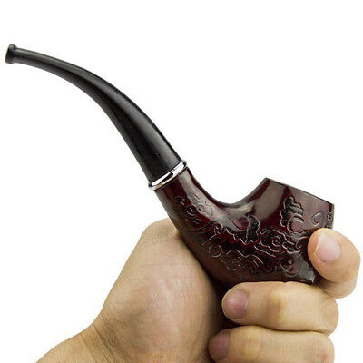 HOT Wooden Wood Enchase Smoking Pipe Tobacco Cigarettes Cigar Gift Durable Cigarettes Tobacco Cigars