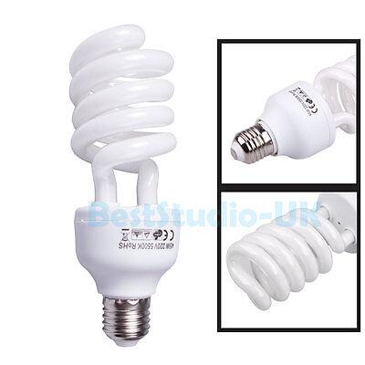 E27 5500K 220V 45W Photo Studio Bulb Video Photography Daylight Lamp Energy Save