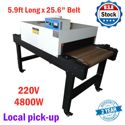 Usa Small T-shirt Conveyor Tunnel Dryer 5.9ft X25.6in Belt For Screen Print 220v
