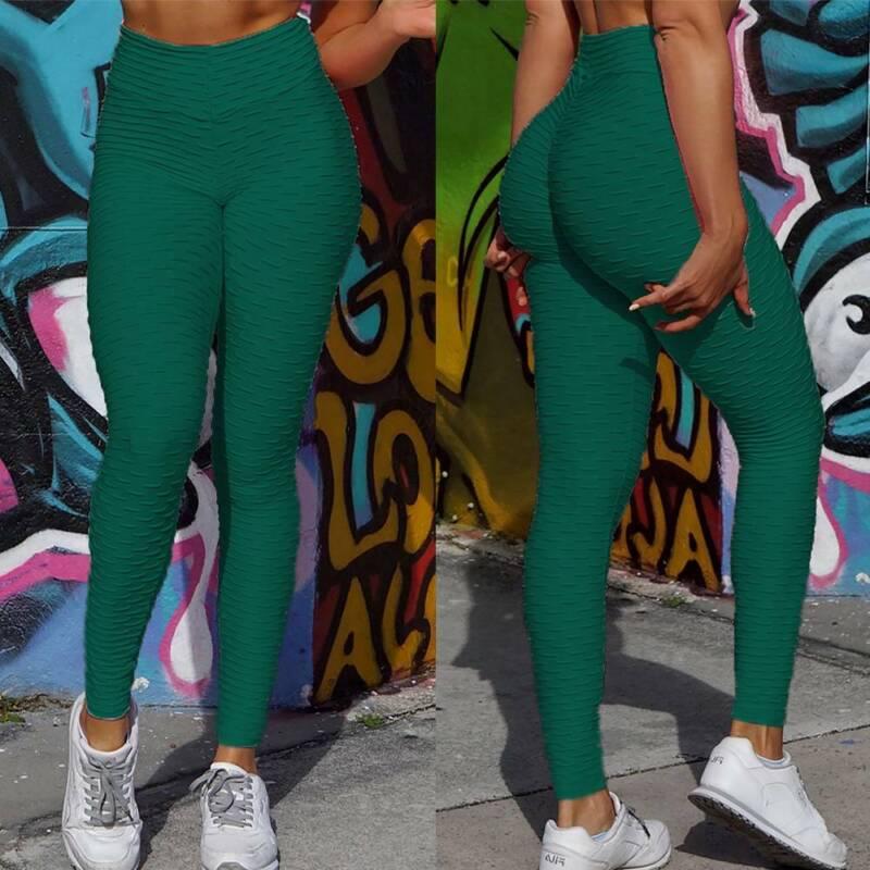 Frauen Anti-Cellulite Butt Lift Yoga Leggings Overall Sport Hose PUSH UP Jogging