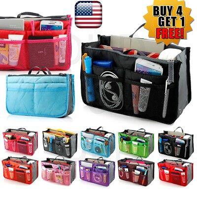 Travel Handbag Bag - Women Lady Travel Insert Handbag Organiser Purse Large Liner Organizer Tidy Bag