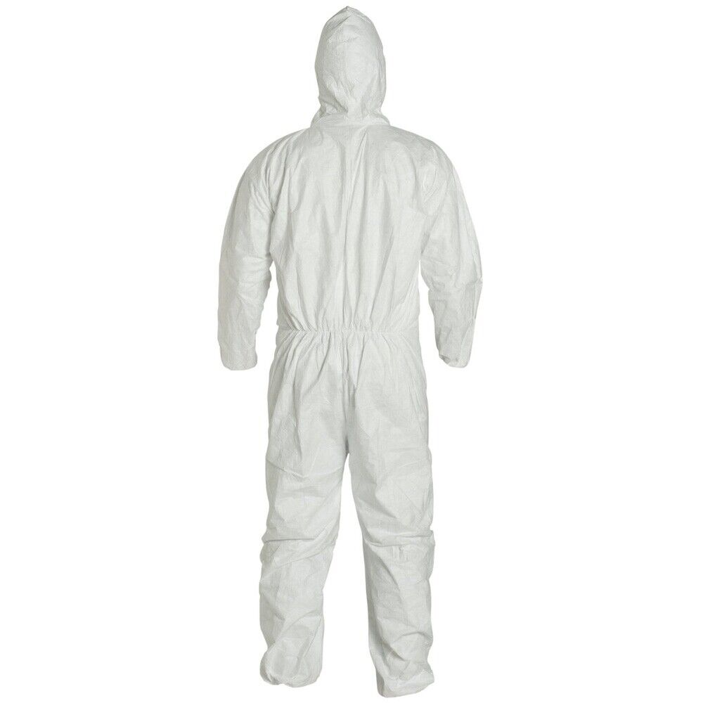Dupont TY127S White Tyvek Disposabl Coverall Bunny Suit Hood & EWA Size M-5XL Clothing, Shoes & Accessories