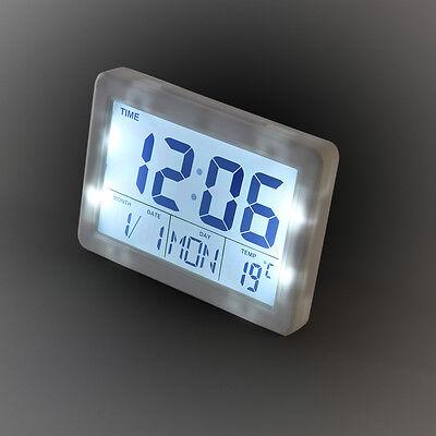 LCD Digitaluhr Wecker Wetterstation Alarm Uhr Digitalwecker Tischuhr SN (2619W)
