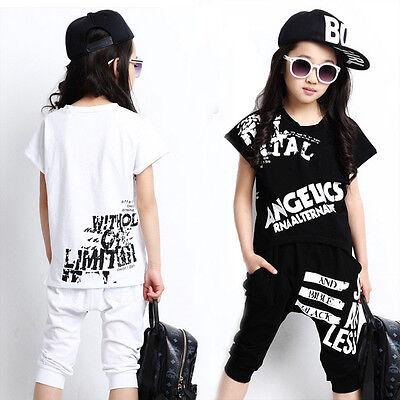 Mädchen Jazz Dancewear top+Hose Kinder Modern Hip Hop Partei Ballsaal - Kinder Ballsaal Tanz Kostüm