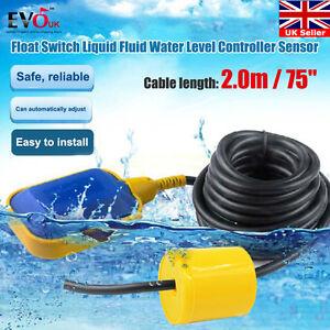 Liquid Fluid Water Level Float Switch Sump Tank Controller Sensor W/ 75