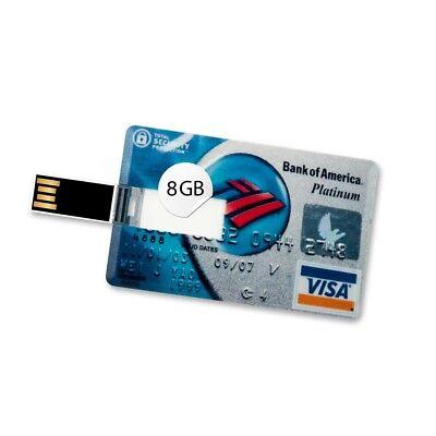8 GB Speicherkarte in Scheckkartenform Bank of America Platinum Visa Card USB