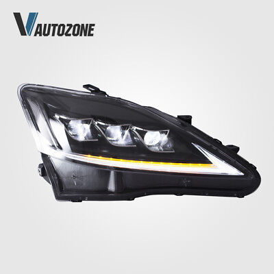 LED Headlights Fit For Lexus IS250 IS350 ISF 2006-2013 Front Lamps Assembly Set